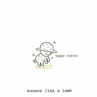 easter card - bounce like a lamb