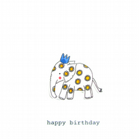 birthday card - cerys the elephant