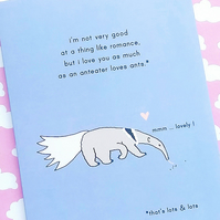 love card - anteater loves ants