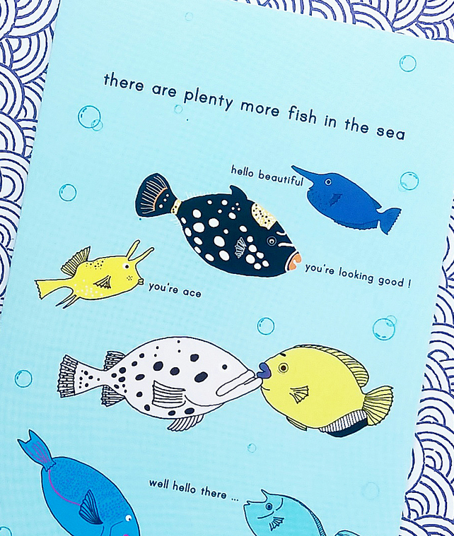 Card there are plenty more fish in the sea folksy for Plenty more fish
