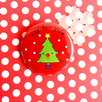 badge - yay for yule - 38mm badge