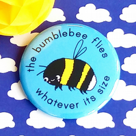 badge - the bumblebee flies - 58mm badge