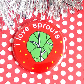 badge - i love sprouts - 58mm badge