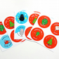 stickers - set of 2 sheets of 4 38mm christmas stickers