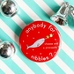 badge - narwhal's nibbles (christmas) - 38mm badge