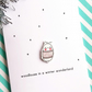 christmas card - woodlouse in a winter wonderland