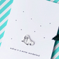 christmas card - walrus in a winter wonderland