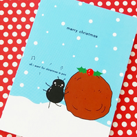 christmas card - festive dung beetle