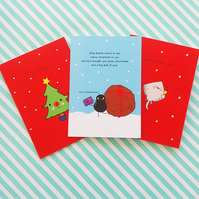 pack of three christmas cards