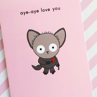 love card - aye-aye love you
