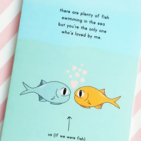 valentine's day card - plenty of fish - love card