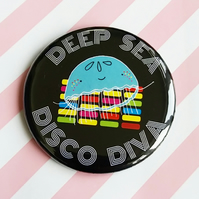 pocket mirror - deep sea disco diva - 58mm pocket mirror