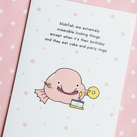 birthday card - birthday blobfish