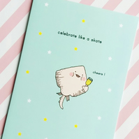 celebration card - celebrate like a skate