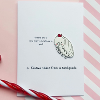 christmas card - a festive toast from a tardigrade -personalised option
