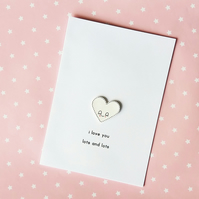 love card - i love you lots and lots - handmade card