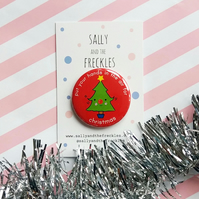 badge - put your hands in the air for christmas - 38mm badge