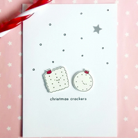 christmas card - christmas crackers - handmade card