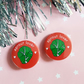 badge - sprout lover - 25mm badge  - set of two handmade badges