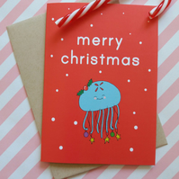 moon jelly christmas card