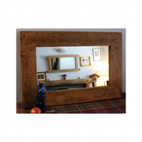 large wood mirror, eco friendly & natural, rustic industrial style from Somerset