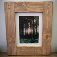 wooden frame 8x10 image, handmade eco friendly modern rustic style from Somerset