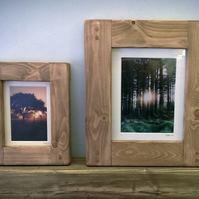 wooden frame 5x7 image, handmade eco friendly modern rustic style from Somerset