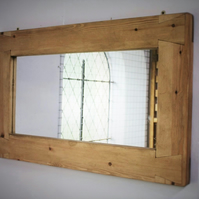 large mirror, wood natural & eco friendly, Somerset handmade modern rustic style