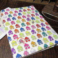 ADDRESS BOOK, A5, FABRIC COVERED WITH PEN