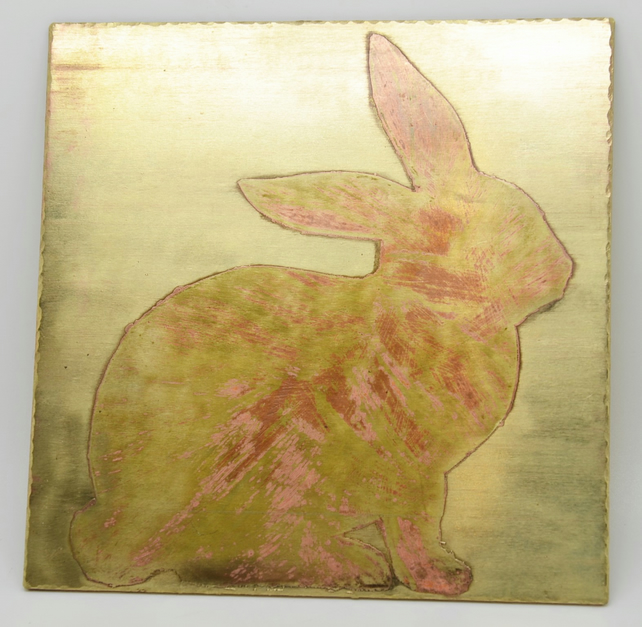 Bunny Brass Plaque