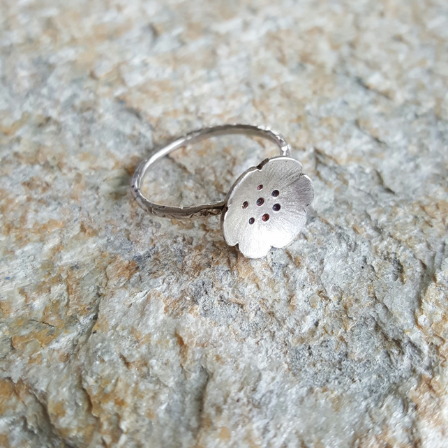 Stirling Silver Ring - Petunia Collection