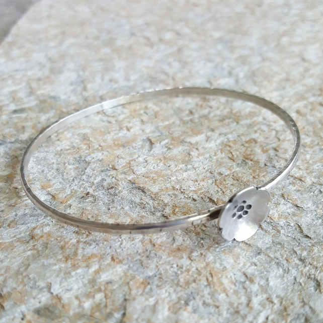 Stirling Silver Bangle - Petunia Collection
