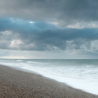 Stormy Weybourne - Landscape Photography 8 X 6 Wall Art Mounted Print