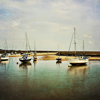 Boats - Landscape Photography 8 X 6 Wall Art Mounted Print