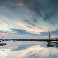 Big Skies Over the Quay - Landscape Photography 8 X 6 Wall Art Mounted Print