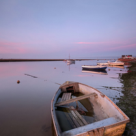 Dusk at East Quay - Landscape Photography 8 X 6 Wall Art Mounted Print