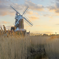 Cley Windmill - Landscape Photography 8 X 6 Wall Art Mounted Print