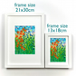 Framed Summer Meadow art print, floral gift, flowers, alcohol inks, wild garden