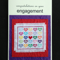 Embroidered Engagement Card