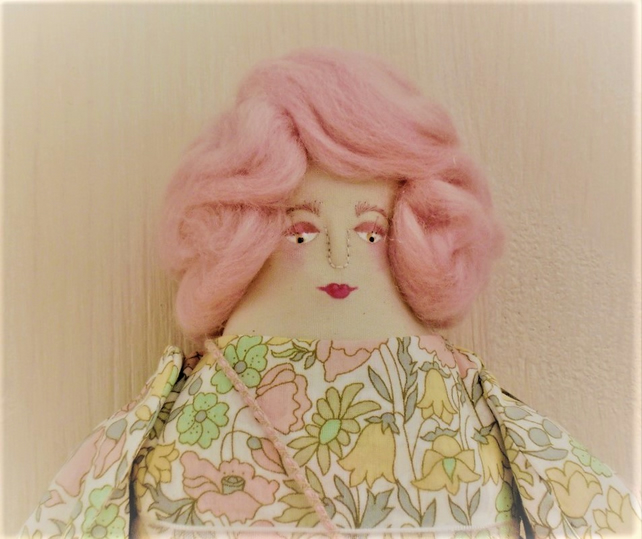 Clara, A Folk Art Rag Doll