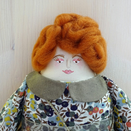Moire, A Folk Art Rag Doll