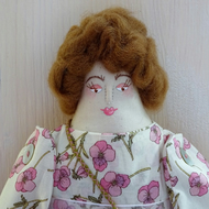 Viola, A Folk Art Rag Doll