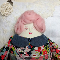 Nell, A Folk Art Rag Doll