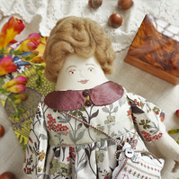 Nualla, A Folk Art Rag Doll