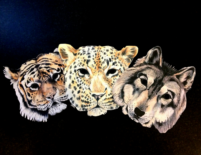 Animal Masks Pack of 3
