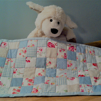 Doll's Cot or Pram Patchwork Quilt