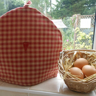 Homespun Check Fabric Tea Cosy