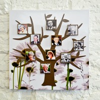 Magnetic Modern Tree Photo Frame Kit - Daisy