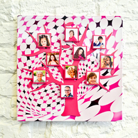 Funky Magnetic Tree Photo Frame Kit  - Hot Pink