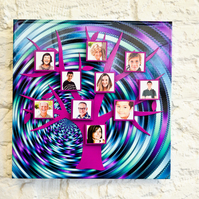 Colourful Magnetic Tree Photo Frame Kit - Deep Purple